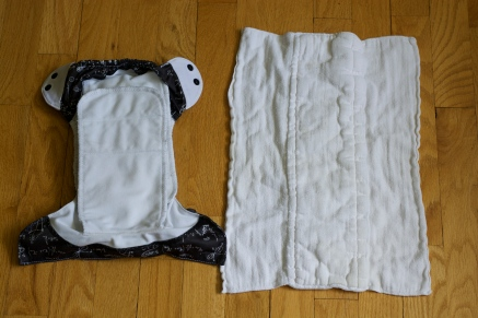 BumGenius Freetime one size diaper with a cheap Gerber prefold