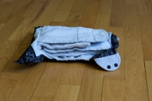 ...then folded the top flap over it to provide extra absorbency in front (because I have a boy)
